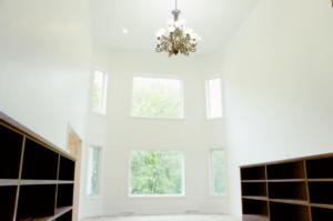 Great room with built-ins
